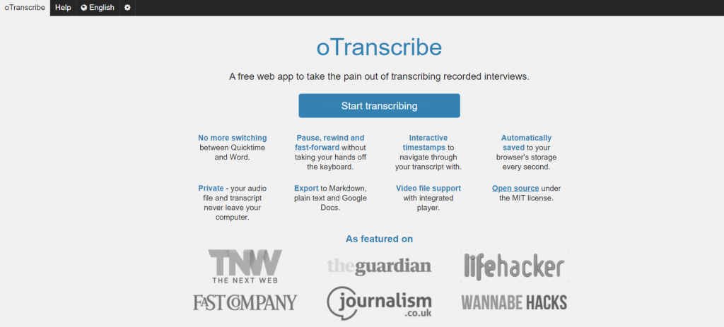 How To Translate Audio To Text Best Free Online Programs,oTranscribe